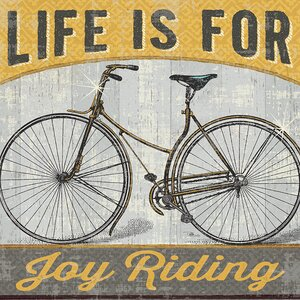 Joy Ride I by Pela Studio Graphic Art on Wrapped Canvas by Star Creations