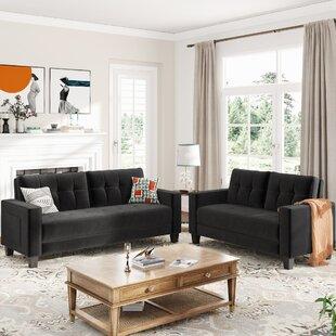 Velvet Upholstered Accent Arm Sofa Set(2+3 Seat) by Latitude Run®