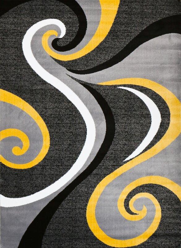 Superior Miya Modern Yellow Area Rug