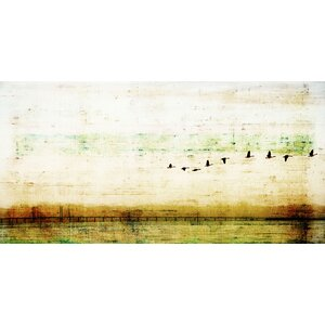 'Birds Flying' by Parvez Taj Painting Print on Wrapped Canvas by Parvez Taj