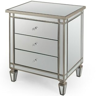 mirrored nightstands you'll love | wayfair.ca Mirror Night Table