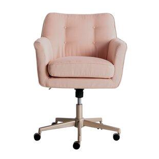 Bon Blush Pink Desk Chair | Wayfair