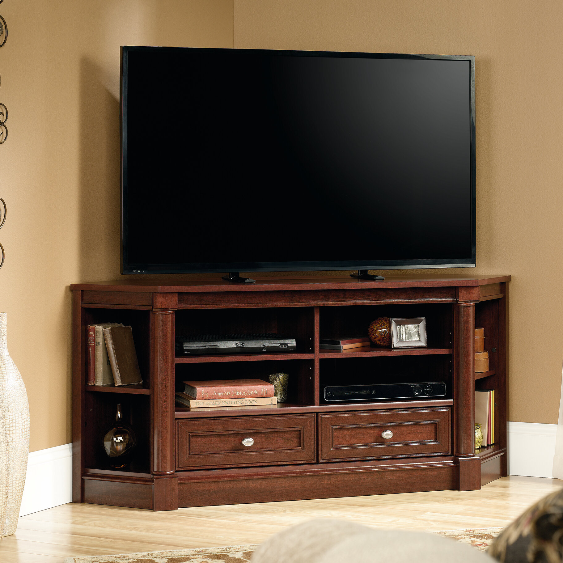 Three Posts Orviston Corner Tv Stand For Tvs Up To 60 Reviews Wayfair