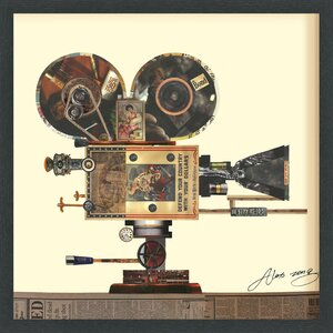 'Antique Film Projector' Framed Graphic Art Print by Trent Austin Design