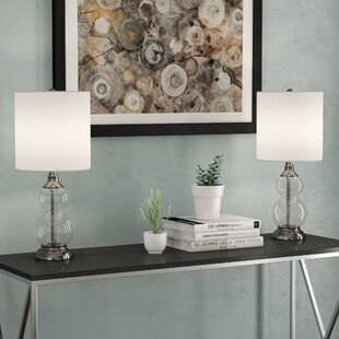 Best Price Devendra Glass 21 Table Lamp (Set of 2) By Latitude Run
