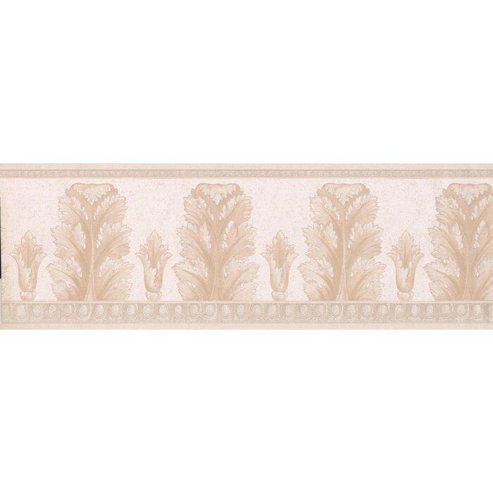 Kraker Modern Design 15 L X 7 W Abstract Floral And Botanical Wallpaper Border