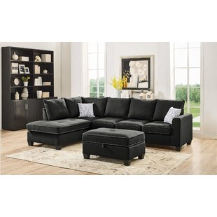 Mercurio Reversible Sectional with Ottoman Latitude Run