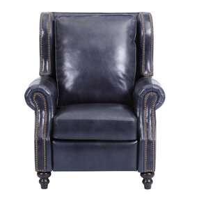 whitley leather manual recliner