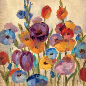'Wild Flowers IV' Painting Print on Wrapped Canvas by Andover Mills