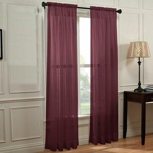 Solid Sheer Rod Pocket Curtain Panels (Set of 2)