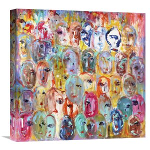 Facebook by Italo Corrado Painting Print on Wrapped Canvas by Global Gallery
