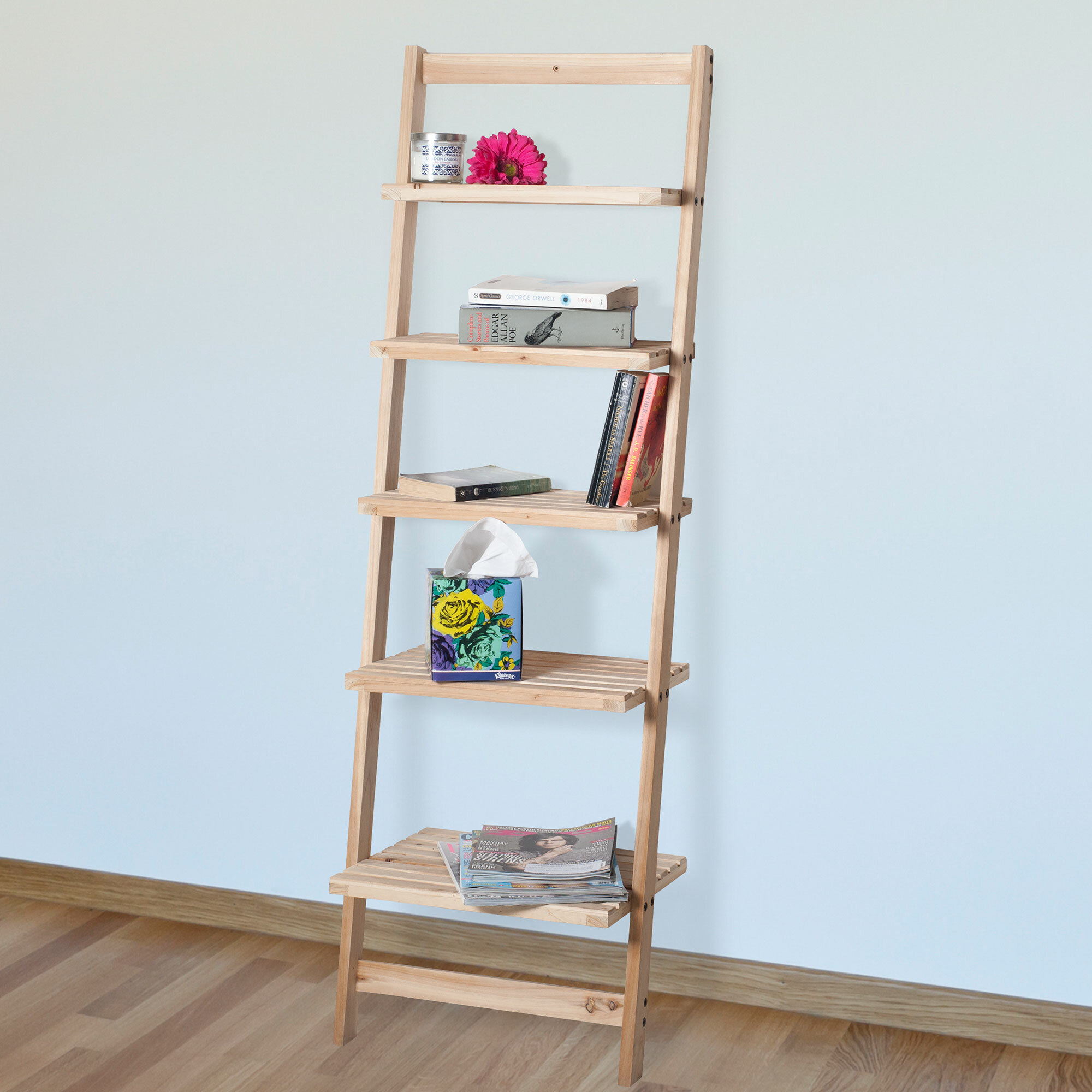 an made and out i of ft some old shelf this leaning ladder planks wooden pin book