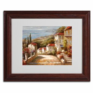 'Home in Tuscany' by Joval Framed Painting Print by Trademark Fine Art