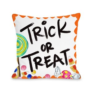 Halloween Trick or Treat Candy Throw Pillow