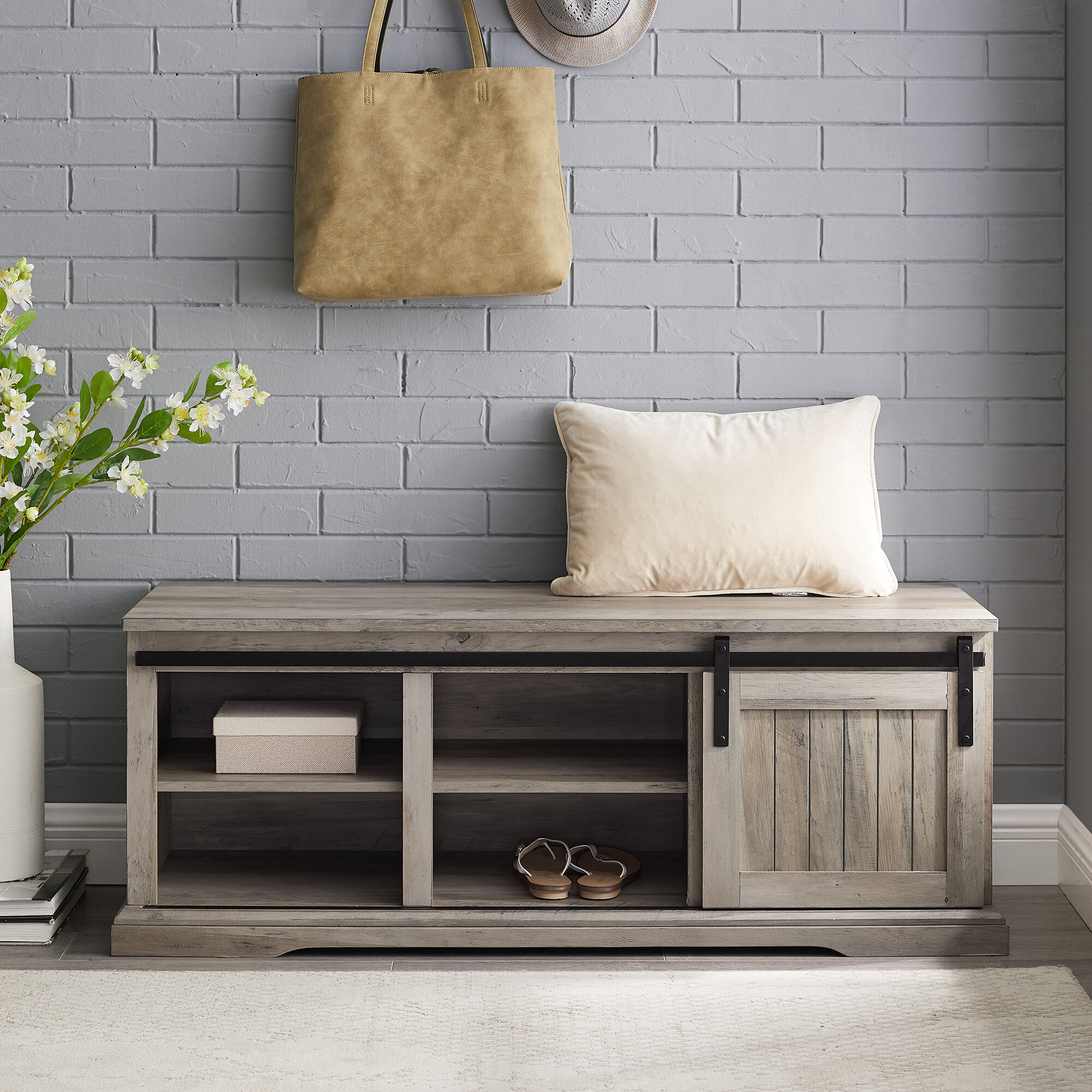 Entryway Shoe Storage Equipped Benches You Ll Love In 2020 Wayfair