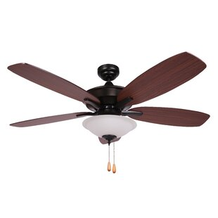 Buy clear 52 Mikkelson 5 Blade Ceiling Fan By Charlton Home
