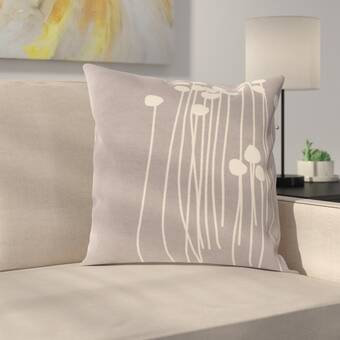 Highland Dunes Gerace Aquatic Life Print Indoor Outdoor Throw Pillow Wayfair