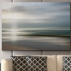 'Setting Sun' by Mike Calascibetta Framed Photographic Print on Wrapped Canvas by Wexford Home