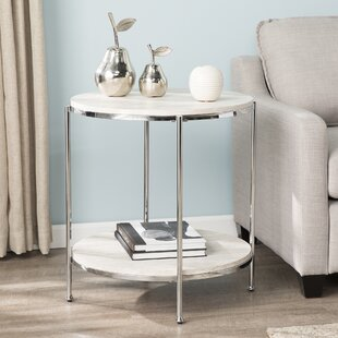 Compare prices Stamper Faux Stone End Table By Mercer41