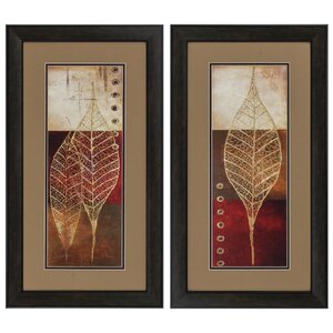 Woodfield Framed 2 Piece Graphic Art Print Set on Paper (Set of 2) by Charlton Home