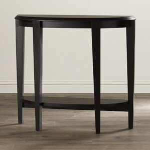 Small Half Moon Table For Hall half-circle console & sofa tables you'll love | wayfair