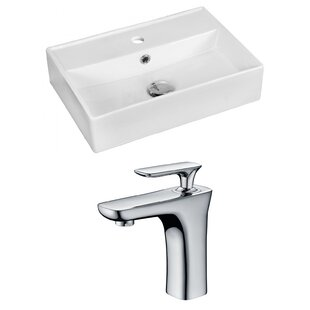Ceramic 20 Bathroom Sink with Faucet and Overflow By Royal Purple Bath Kitchen
