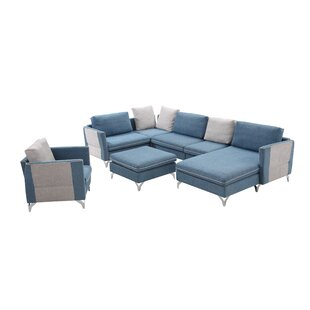 Wang Living Room Sectional with Ottoman by Brayden Studio