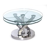 Tupelo Extendable Pedestal Coffee Table with Storage by Orren Ellis