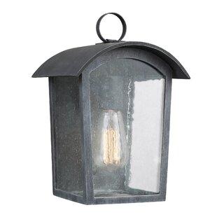 Top Reviews Lency 1-Light Outdoor Flush Mount By Gracie Oaks