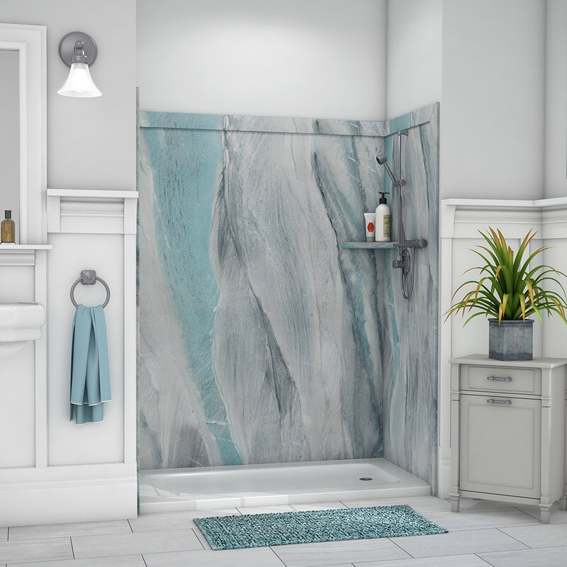 "flexstone royale 80""h x 60""w x 36""d three panel shower"