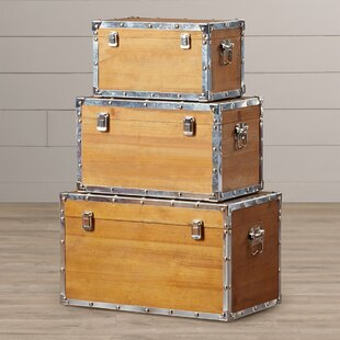 Weippe 3 Piece Trunk Set by August Grove