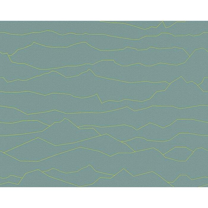 Lauritzen Vintage Tiles Stone Wood Modern Lines 33 X 21 Abstract Wallpaper Roll