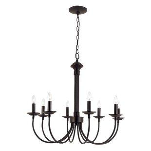 Black chandeliers youll love wayfair shaylee 8 light chandelier aloadofball Choice Image