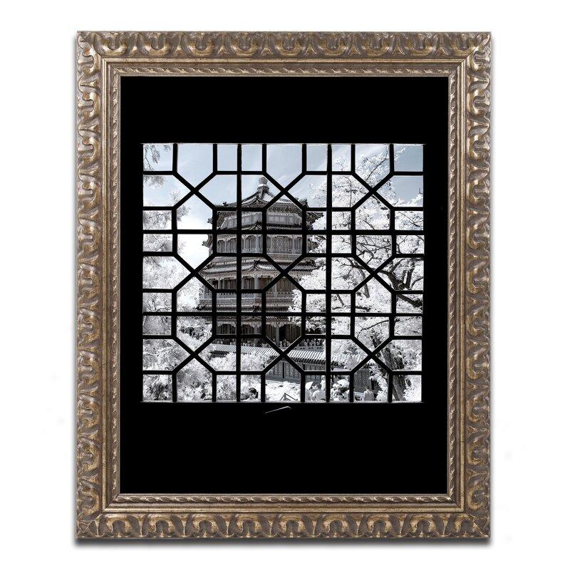 Trademark Art Window Temple By Philippe Hugonnard Framed Photographic Print Wayfair