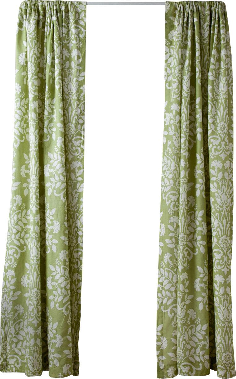 Rowland Damask Semi Sheer Rod Pocket Curtain Panels By Laura Ashley Home Set Of 2