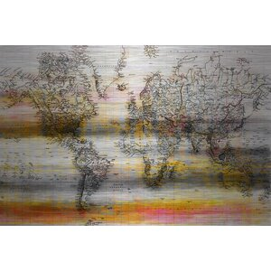 'Topographical Map' by Parvez Taj Painting Print on Brushed Aluminum by Parvez Taj