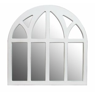 Ophelia & Co. Forsan Distressed Cathedral Wall Mounted Mirror