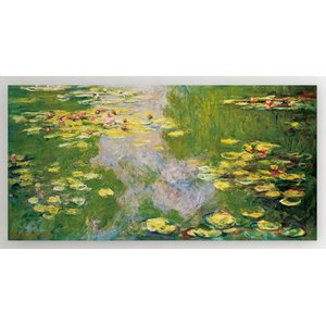 'Water Lilies' by Claude Monet Framed Painting Print by Wexford Home