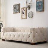 Ossett Tufted Elegant Chesterfield Sofa by Mercer41