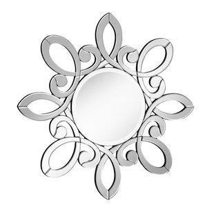 Latitude Run Grayling Beveled Round Wall Mirror