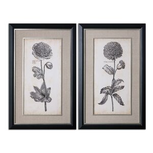 Singular Beauty Floral by Grace Feyock 2 Piece Painting Print Shadow Box Set by Uttermost