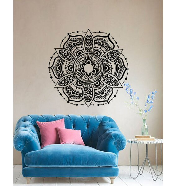 Decal House Mandala Vinyl Bedroom Yoga Studio Wall Decal Wayfair - Yoga studio wall decals