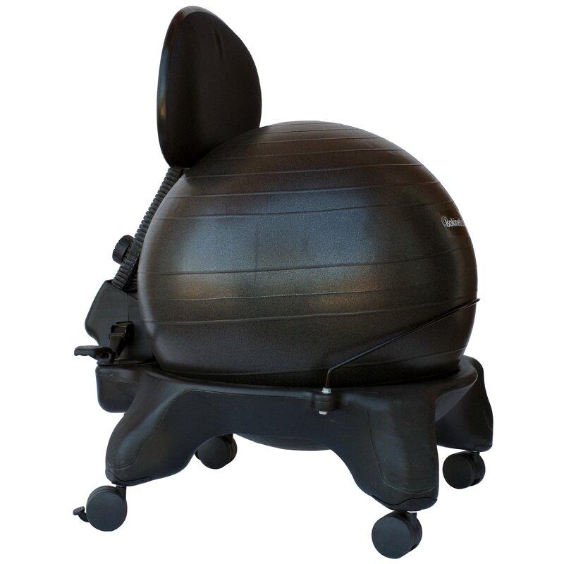Bigler High Back Exercise Ball Chair