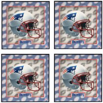 New England Patriots Super Bowl 53 LI Set of 2 Ceramic Tile Coasters