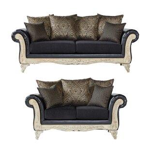 Crandon 2 Piece Faux Leather Living Room Set by House of Hampton®