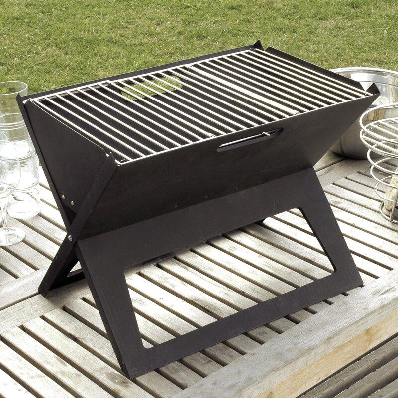 Portable Grill Enclosures : Fire sense hotspot notebook portable charcoal grill