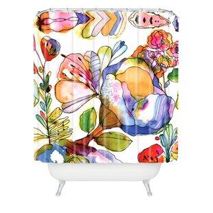 Find a Dinges Blossom Shower Curtain ByBrayden Studio