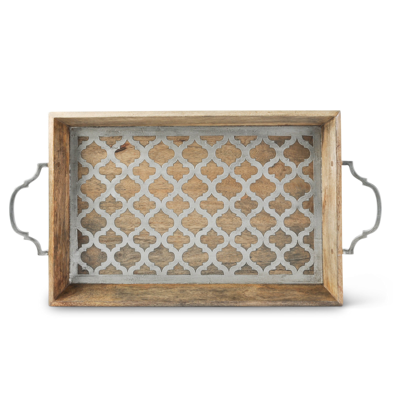 Fantastic Ophelia Co Buntingford Wood And Metal Ottoman Tray Wayfair Inzonedesignstudio Interior Chair Design Inzonedesignstudiocom