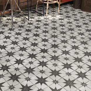 Royalty Estrella 17 63 X Ceramic Patterned Tile In Off White Black