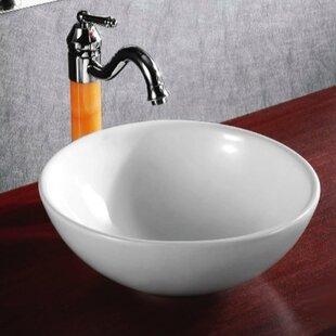 Check Prices Ceramic Circular Vessel Bathroom Sink By Caracalla